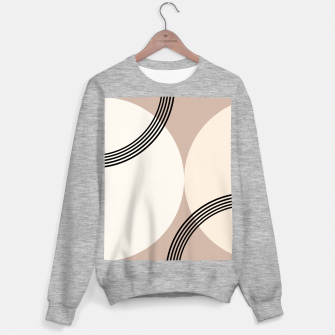 Minimal Abstract Circle Glam #1 #minimal #decor #art  Sweatshirt regulär thumbnail image