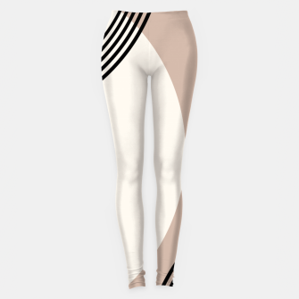 Minimal Abstract Circle Glam #1 #minimal #decor #art  Leggings thumbnail image