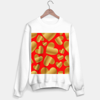Thumbnail image of An abundance of golden hearts on red Sudadera regular, Live Heroes
