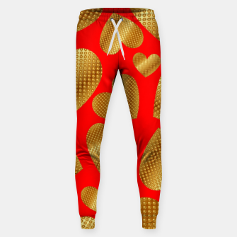 Miniature de image de An abundance of golden hearts on red Pantalones de chándal , Live Heroes