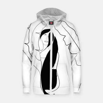 Thumbnail image of Woman with Banana Leaves #1 #minimal #line #art Reißverschluss kapuzenpullover, Live Heroes