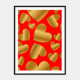 Thumbnail image of An abundance of golden hearts on red Cartel con marco, Live Heroes