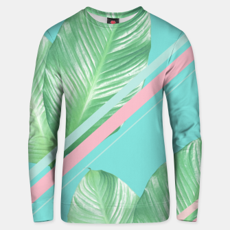 Miniature de image de Tropical Summer Leaves Stripes - Cali Vibes #1 #tropical #decor #art  Unisex sweatshirt, Live Heroes