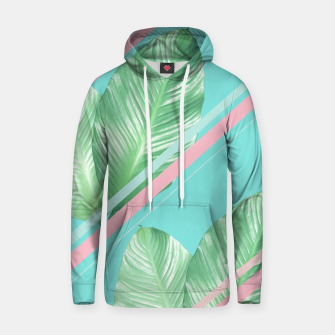 Miniature de image de Tropical Summer Leaves Stripes - Cali Vibes #1 #tropical #decor #art  Kapuzenpullover, Live Heroes