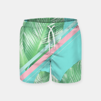 Miniaturka Tropical Summer Leaves Stripes - Cali Vibes #1 #tropical #decor #art  Badeshorts, Live Heroes
