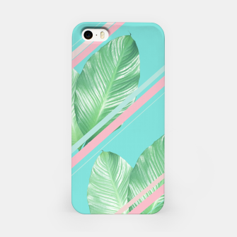 Miniatur Tropical Summer Leaves Stripes - Cali Vibes #1 #tropical #decor #art  iPhone-Hülle, Live Heroes