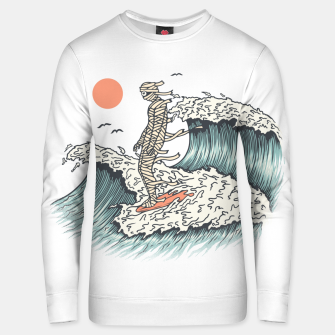 Thumbnail image of Mummy Surfing Unisex sweater, Live Heroes