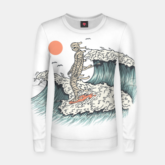 Thumbnail image of Mummy Surfing Women sweater, Live Heroes