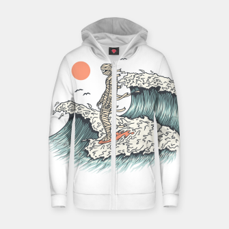 Thumbnail image of Mummy Surfing Zip up hoodie, Live Heroes