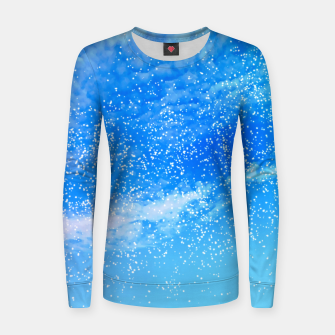 Thumbnail image of Cosmic blue sky ( digital watercolor ) Women sweater, Live Heroes