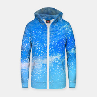 Miniatur Cosmic blue sky ( digital watercolor ) Zip up hoodie, Live Heroes