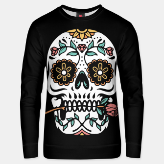 Miniatur Mexican Skull Unisex sweater, Live Heroes