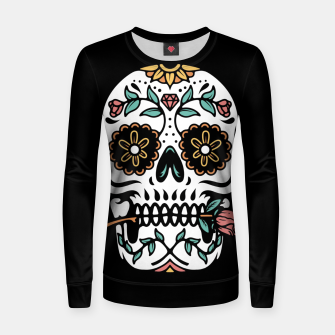 Thumbnail image of Mexican Skull Women sweater, Live Heroes