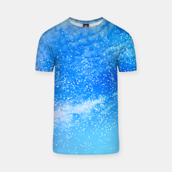 Miniatur Cosmic blue sky ( digital watercolor ) T-shirt, Live Heroes