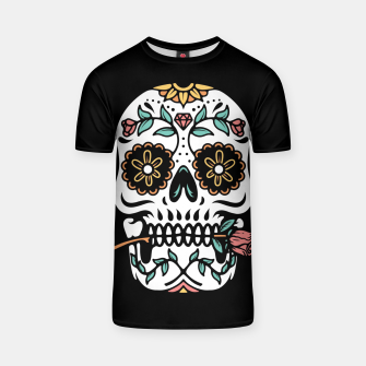 Thumbnail image of Mexican Skull T-shirt, Live Heroes