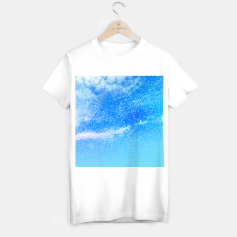 Miniatur Cosmic blue sky ( digital watercolor ) T-shirt regular, Live Heroes