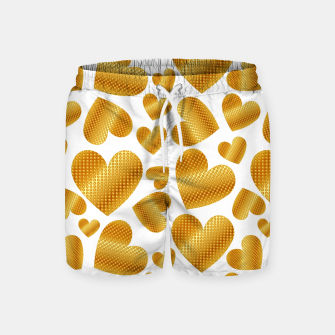 Miniature de image de An abundance of golden hearts on white Pantalones de baño, Live Heroes