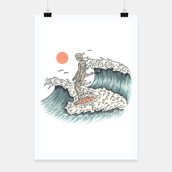 Thumbnail image of Mummy Surfing Poster, Live Heroes