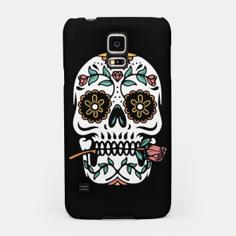 Miniatur Mexican Skull Samsung Case, Live Heroes