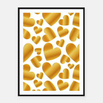 Thumbnail image of An abundance of golden hearts on white Cartel con marco, Live Heroes