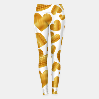 Imagen en miniatura de An abundance of golden hearts on white Leggings, Live Heroes