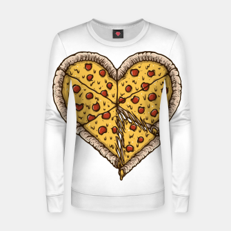 Miniatur Pizza Lover Women sweater, Live Heroes