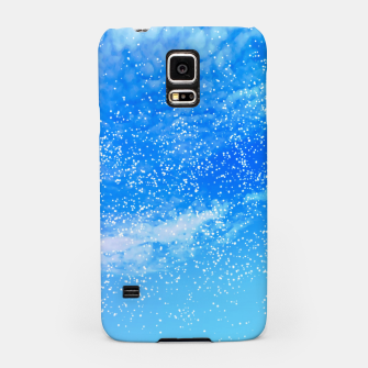 Miniatur Cosmic blue sky ( digital watercolor ) Samsung Case, Live Heroes