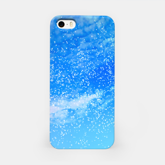 Miniatur Cosmic blue sky ( digital watercolor ) iPhone Case, Live Heroes