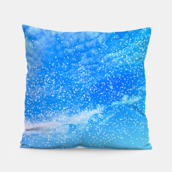 Thumbnail image of Cosmic blue sky ( digital watercolor ) Pillow, Live Heroes