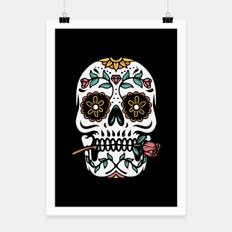 Miniatur Mexican Skull Poster, Live Heroes