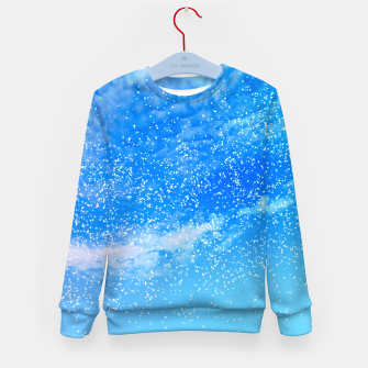 Thumbnail image of Cosmic blue sky ( digital watercolor ) Kid's sweater, Live Heroes