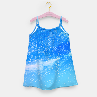Miniatur Cosmic blue sky ( digital watercolor ) Girl's dress, Live Heroes
