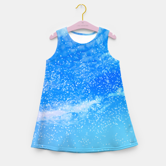 Miniatur Cosmic blue sky ( digital watercolor ) Girl's summer dress, Live Heroes