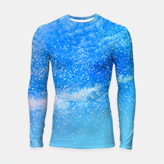 Thumbnail image of Cosmic blue sky ( digital watercolor ) Longsleeve rashguard , Live Heroes