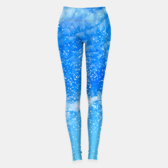 Thumbnail image of Cosmic blue sky ( digital watercolor ) Leggings, Live Heroes
