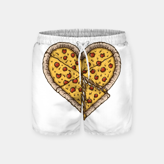 Miniatur Pizza Lover Swim Shorts, Live Heroes