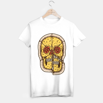 Miniatur Pizza Skull T-shirt regular, Live Heroes