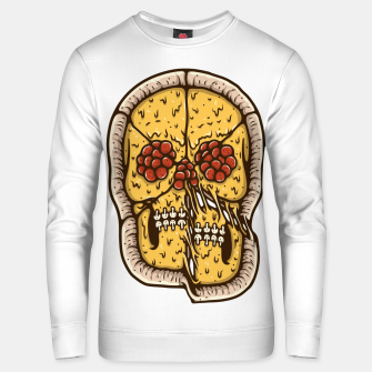 Thumbnail image of Pizza Skull Unisex sweater, Live Heroes