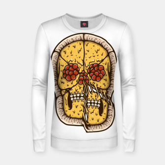 Miniatur Pizza Skull Women sweater, Live Heroes