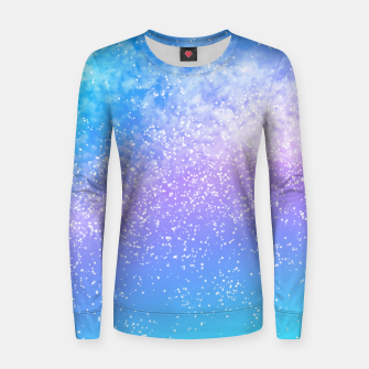 Miniatur Cosmic rainbow sky ( digital watercolor ) Women sweater, Live Heroes
