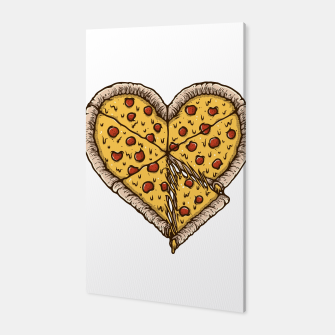 Miniatur Pizza Lover Canvas, Live Heroes