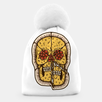Thumbnail image of Pizza Skull Beanie, Live Heroes