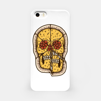 Miniatur Pizza Skull iPhone Case, Live Heroes