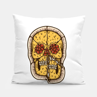 Miniatur Pizza Skull Pillow, Live Heroes