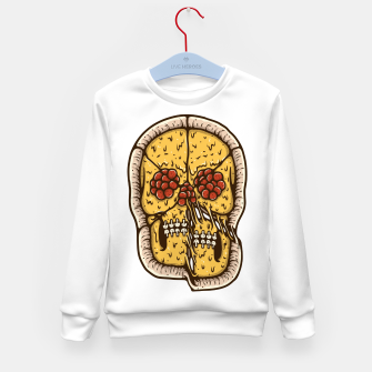 Miniature de image de Pizza Skull Kid's sweater, Live Heroes