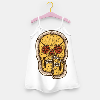 Miniatur Pizza Skull Girl's dress, Live Heroes