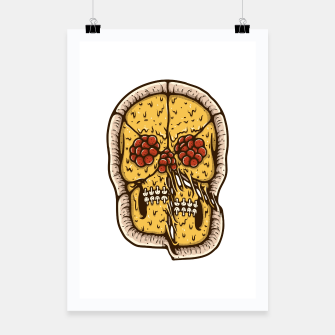 Thumbnail image of Pizza Skull Poster, Live Heroes