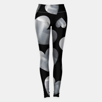 Imagen en miniatura de An abundance of silver hearts on black Leggings, Live Heroes