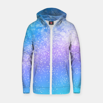 Miniatur Cosmic rainbow sky ( digital watercolor ) Zip up hoodie, Live Heroes