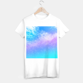 Miniatur Cosmic rainbow sky ( digital watercolor ) T-shirt regular, Live Heroes